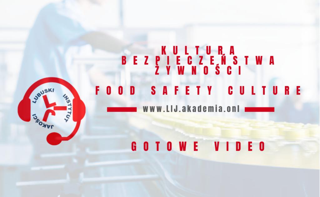 Kultura bezpieczeństwa żywności